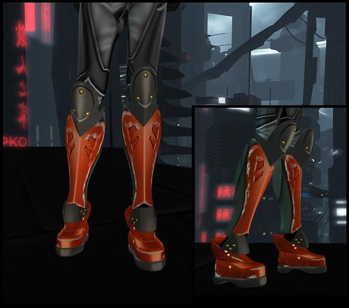 Female XEI boots detail