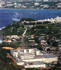 Aerial View of the Old and Existing Guam Memorial Hospitals, 1900s