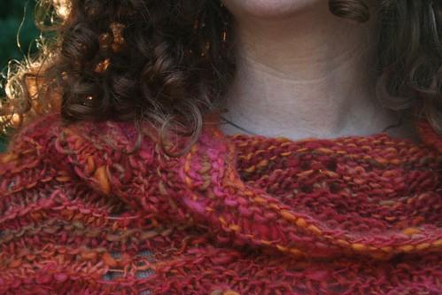 knitted :: handspun cowl