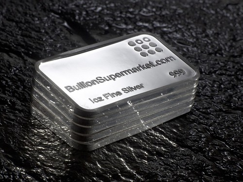 Silver 1 troy ounce bullion bars 999 fine silver x 5 ounces