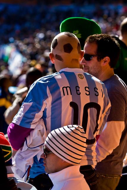 Soccer ball hairdo