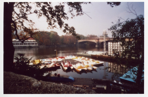 Paddleboats on Vltava River