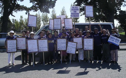 DaveP and healthcare union folks in Alameda