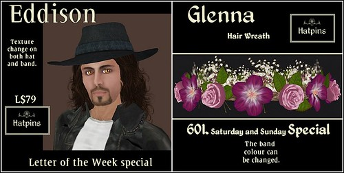 Hatpins - Eddison and Glenna - Specials