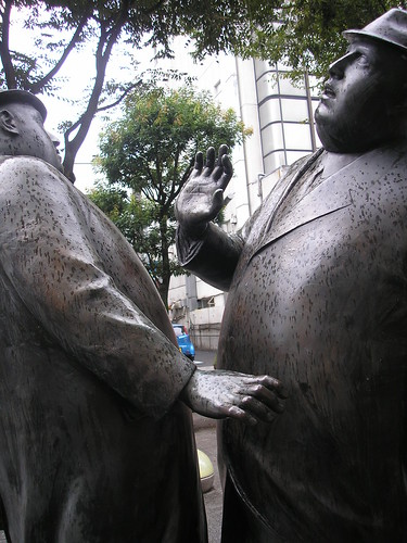 Statue on Aoba Symbol Road (出会い)