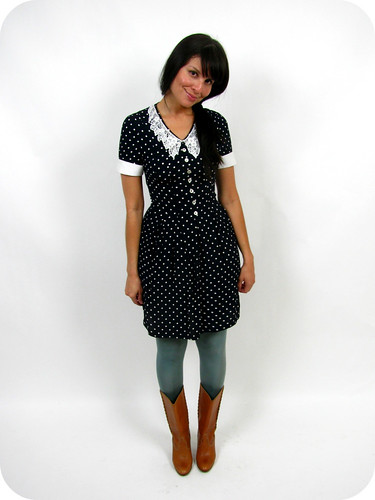 VINTAGE 90's POLKA DOT BABY DOLL DRESS