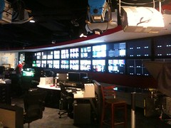 Banks of monitors at the CNN centre