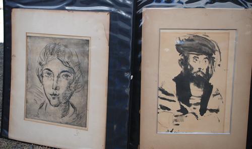 vintage etchings