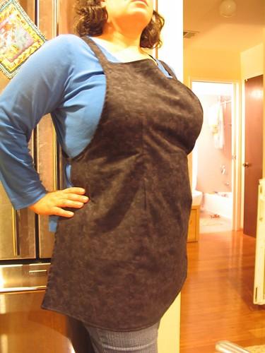 unruffled apron
