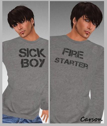 Maschienenwerk Fire Starter & Sick Boy Sweat tops