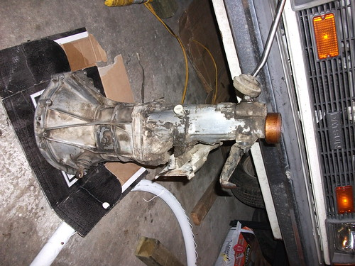 Gearbox out - Datsun 210 4 speed