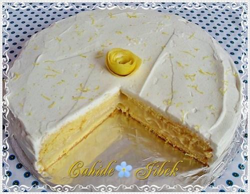 Limonlu yaş pasta
