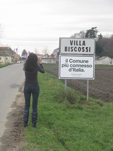 Villa Biscossi, il comune più connesso d'Italia.