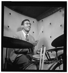 [Portrait of Max Roach, Three Deuces, New York...