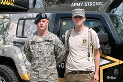 Army Strong - Ben with Recruiter Sgt Dillman 01