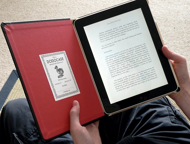 "Dodocase in ""book mode"""