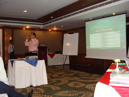 Ranjit K Sharma conducting the sales presentation