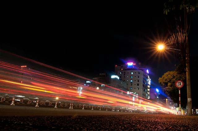 Saigon Street at Night