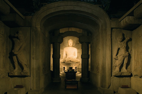 Famous Buddha sculpture at Seokguram