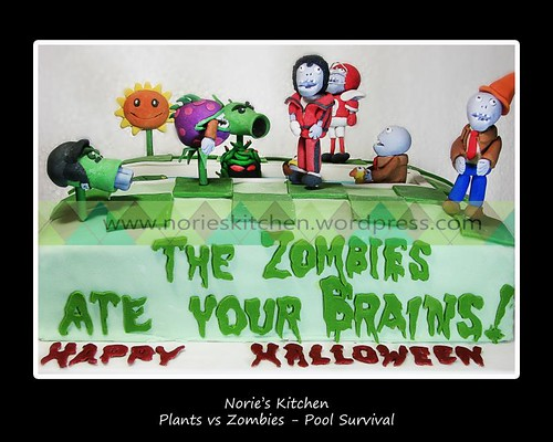 Norie's Kitchen - Plants vs Zombies Cake - Pool Survival Cake