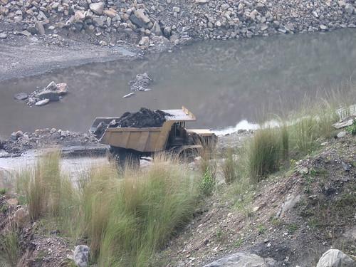 Open cast coal mining at Jharia