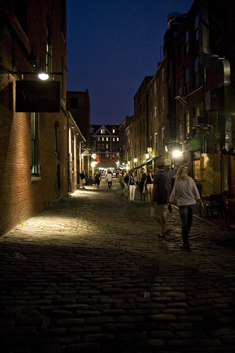 Wharf Street at night