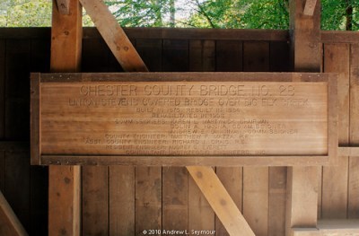 Linton Stevens Covered Bridge (1886) - Main Sign (HDR 01)