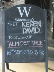 Book launch sign