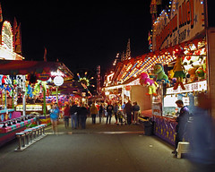 Midway at night I