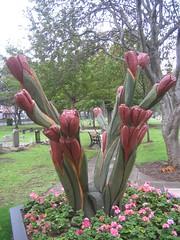 Tulip Carving, Redcar Cemetery