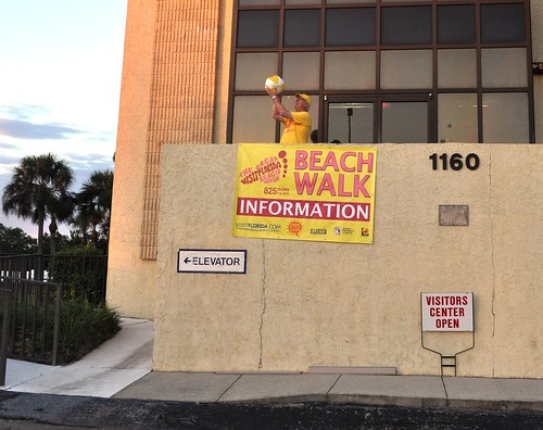 Jon Benderik, Executive Director of the Englewood-Cape Haze Chamber of Commerce, Prepares for Walkers, Nov. 6, 2010