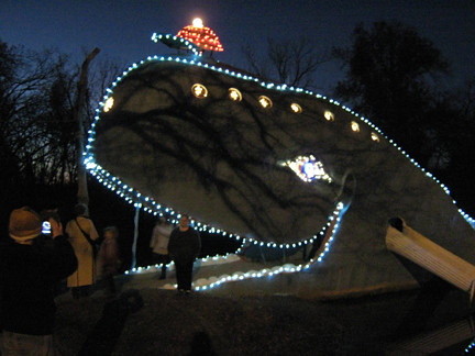 On Friday evening spectators witnessed a sight that had never before been seen in the nearly 40-year history of the Blue Whale of Catoosa Okla. & Blue Whale Christmas - Route 66 News azcodes.com