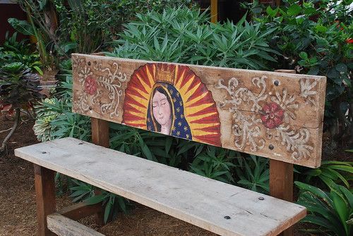 bench in old town, san diego