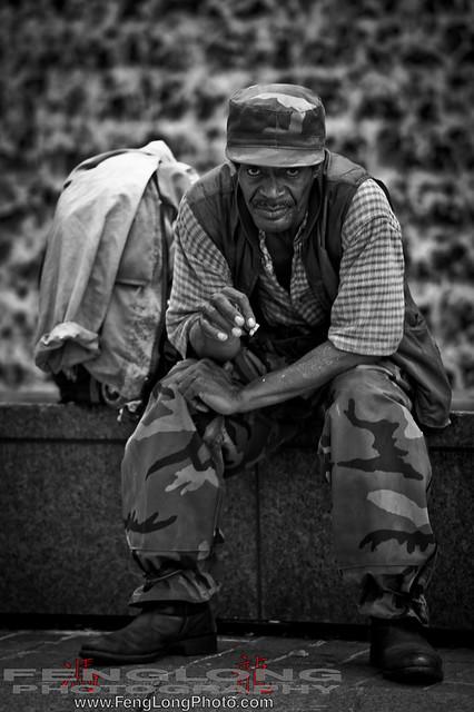 Waterfall Man at Woodruff Park - Atlanta Photowalk