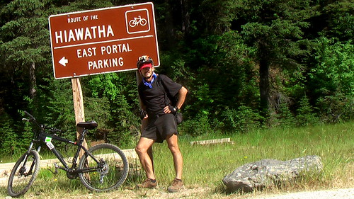 Rick on the Hiawatha Trail, Idaho
