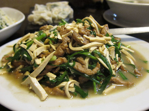 Sliced Pork with Tofu and Kutchay in Mien San