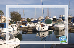 Larnaka city harbor Cyprus