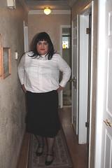 Quick Photoshoot Aug. 11, 2010 - 1 (Back To Basics - blouse, skirt, and mary jane heels)