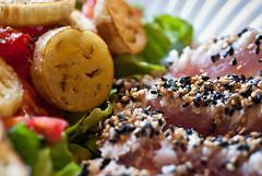 Sesame crusted albacore