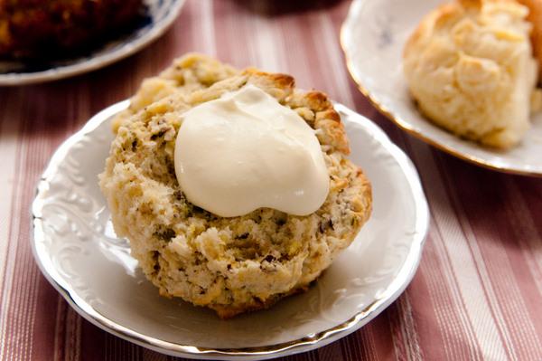 Pistachio and lemon scones