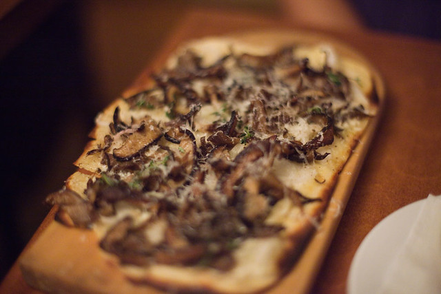 Flatbread wild mushrooms, mascarpone