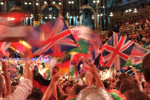 Last Night of the Proms Flag Waving