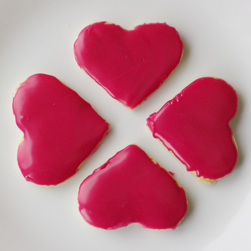 Beet coloured Butter Cookies.
