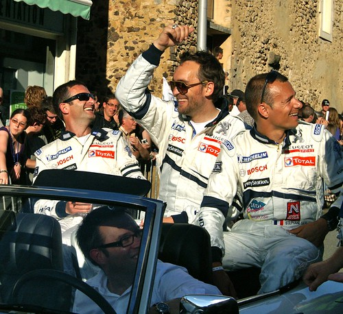 Nicolas Minassian, Stephane Sarrazin and Franck Montagny Drivers of Team Peugeot Total's Peugeot 908 HDi FAP