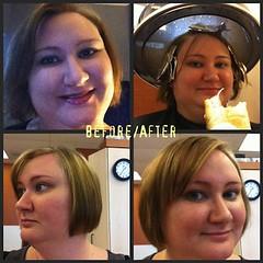 hair beforeafter