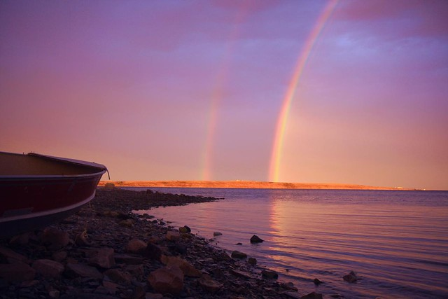 Rainbowns and midnight sunlight