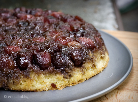 Cherry Cornmeal Upside Down Cake 2