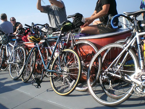 Bikes on P-Town - Plymouth ferry