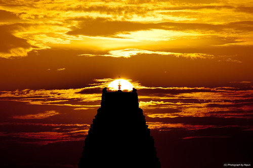 The Virupaksha Temple, at Sunset.