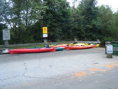 Kayaks at the Take-out
